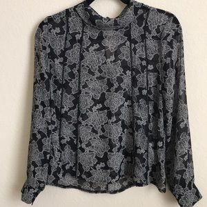 SZ S Floral Long-sleeve Blouse